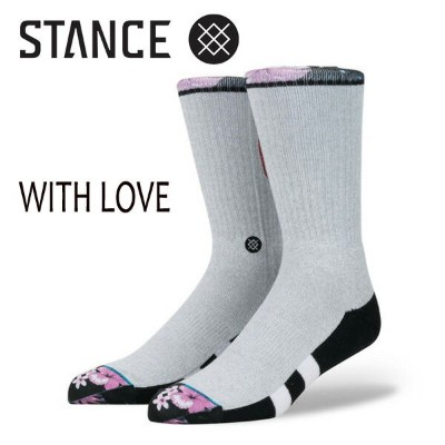 STANCE・スタンス/SOCKS・靴下・ソックス/17HO/THE CLASSIC CREW・WITH LOVE/GRY・グレー/L(25.5-29cm)/BLUE COLLECTION 【あす楽...