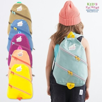 KIDS PACKERS キッズパッカーズ TWIST ZIP BACK PACK ツイストジップバックパック Sサイズ 【キッズ グッズ デイパック リュック】 正規品・正規取扱店