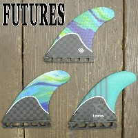 FUTURES FIN/フューチャーズ フィン RTM HEX LOST Generation Series CARBON/HONEYCOMB TEAL SWIRL TRI FIN SET...