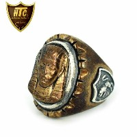 正規取扱店 HTC(Hollywood Trading Company) Mexican Ring(メキシカンリング) PHARAOH(ファラオ) Bronze Oval Body...