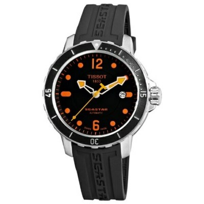 ティソ Tissot 腕時計 メンズ 時計 Tissot Seastar Automatic Black Dial Men's watch #T066.407.17.057.01
