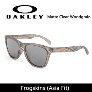 OAKLEY オークリー サングラス Frogskins フロッグスキン (Asia Fit) Matte Clear Woodgrain oo9245-55 54 【雑貨】【サングラス】日本正規品