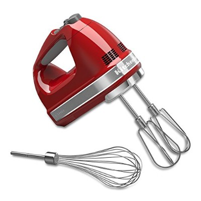KitchenAid KHM7210ER 7-Speed Digital Hand Mixer with Turbo Beater II Accessories and Pro Whisk - E