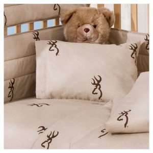 Buckmark 2 Piece Crib Bedding Set Color: Brown by Browning