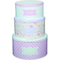 25.5cm, 22cm & 20cm Sweetly Does It Set Of Three Cake Tins