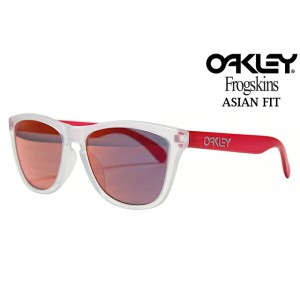 OAKLEY FROGSKINS SUNGLASSES OO9245-52 ASIAN FIT MATTE CLEAR/MATTE TRANSPARENT PINK/TORCH IRIDIUMオークリ...