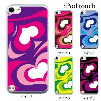 iPod touch 5 6 ケース iPodtouch ケース アイポッドタッチ6 第6世代 プッチ柄 ハート / for iPod touch 5 6 対応 ケース カバー かわいい 可愛い...