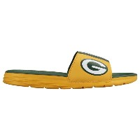 ナイキ メンズ シューズ・靴 サンダル【Nike Benassi Solarsoft NFL Slide】University Gold/Green