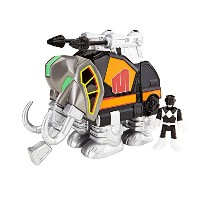 パワーレンジャー Fisher-Price Imaginext Mighty Morphin Power Rangers Black Ranger and Mastadon Toy Figure