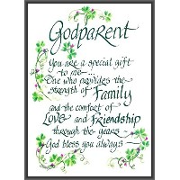 LPG Greetings Irish God Parent Decor, Green/White/Black by LPG Greetings