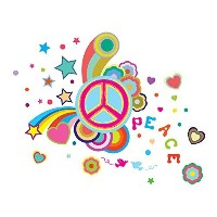 Wunders Cordeless Wall Decor Light - Peace, Multi Colored by Wunders