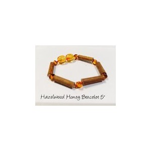 Hazelwood 5.5 - 6 Inch Bracelet Brown Honey Yellow individual knotted Baltic Amber Bracelet for...