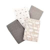 Carter's Flannel Receiving Blankets, Taupe Jungle/Grey by Carter's