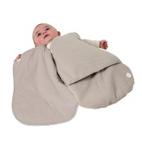 Candide Wearable Blanket, Cotton Jersey Winter Weight Baby Wrap, Hazel by Candide