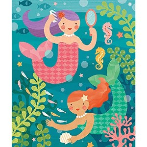 Petit Collage Playful Mermaids 64 Piece Tin Puzzle by Petit Collage