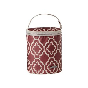 JJ Cole Bottle Cooler, Red Trellis by JJ Cole