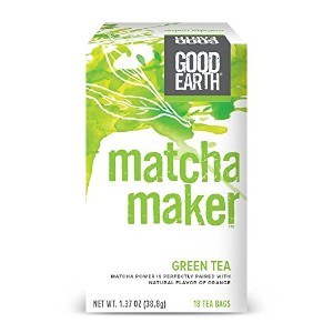 海外直送品Good Earth Teas Matcha Maker, Matcha Sencha and Orange 18 Tea bags (Pack of 6)