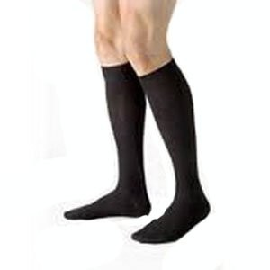 Beiersdorf-Jobst For men 15-20 mmHg Knee High Medical Compression Socks, Black , Medium by Beiersdorf-Jobst