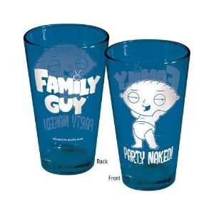 Family Guy Stewie Party Naked 。ブルーPint Glass