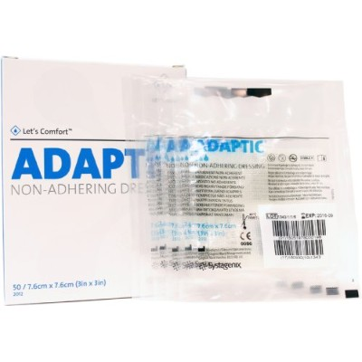 Adaptic Non-Adherent Dressing 3 x 3 (Pack of 5 Dressings) by Systagenix