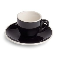 Revolution Cup & Saucer ,セットof 6 2.0 Ounce ブラック