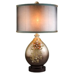 Ore International K-4248T Sapphire Rose Table Lamp by ORE