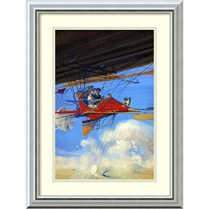 Futuristic Air Travel ' Framedアートプリントby Inventions Size: 16 x 22 (Approx), Matted 2258374