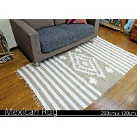 RUG&PIECE Native Mexican Rug ネイティブ柄 メキシカンラグ 200cm×120cm (rug-5830)
