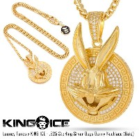 KING ICE キングアイス LOONEY TUNES X KING ICE - .925 STERLING SILVER BUGS BUNNY メンズ レディース 秋冬 ネックレス...