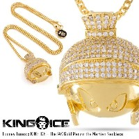 KING ICE キングアイス LOONEY TUNES X KING ICE – THE 14K GOLD MARVIN THE MARTIAN メンズ レディース 秋冬 ネックレス...