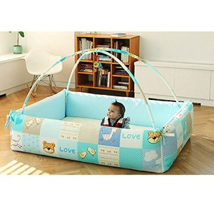Baby Hu Baby Bumper Bed Including Mobile Stick モバイルスティックを含むベビーバンパーベッド [海外並行輸入品] (Outer Character...
