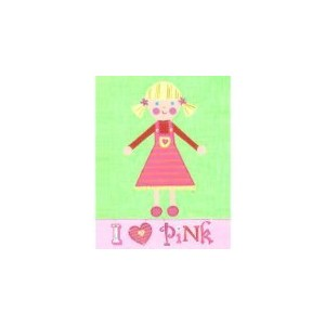 The Little Acorn Painting, I Love Pink Girl by Little Acorn