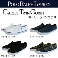 [ポロラルフローレン] POLO RALPH LAUREN スニーカー/CARLEE TWIN GOREⅡ NAVY 23.9(US4.5)