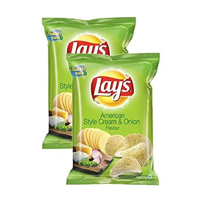 Lays American Style Cream & Onion flavour, 52 grams, - Pack of 2 - India - 並行輸入品 -