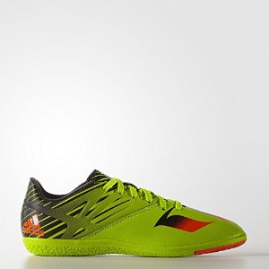 Adidas Kids Messi 15.3 Indoor Soccer Shoes (Solar Slime/ Infrared/ Black) -YOUTH / サッカーシューズ メッシ15.3...