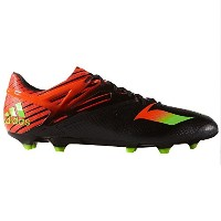 Adidas Men's Messi 15.1 Firm Ground Cleats(Core Black/Solar Green/Solar Red)/サッカースパイク Messi 15.1 FG...