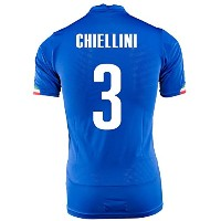 Puma Chiellini #3 Italy Home Jersey World Cup 2014 -Youth/サッカーユニフォーム イタリア ホーム用 キエッリーニ 背番号3...