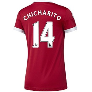 Adidas Chicharito #14 Manchester United Home Soccer Jersey 2015 -WOMEN(Authentic name and number of...