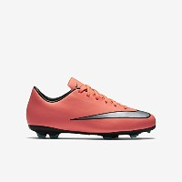 Nike Jr. Mercurial Victory V Kids' Firm-Ground Football Boot(Bright Mango/Hyper Turquoise/Metallic...