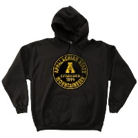 NCAA Appalachian State Mountaineers 50/ 50Blended 8-ounceヴィンテージ円フード付きスウェットシャツ M ブラック