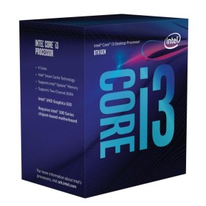 [新製品] Intel Core i3-8100 (BX80684I38100) Coffee Lake (3.60GHz/4Core/4Thread/リテールBOX) LGA1151