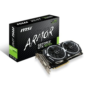 MSI エムエスアイ グラフィックボード GeForce GTX 1070 Ti ARMOR 8G [NVIDIA GeForce GTX 1070 TI / 8GB]