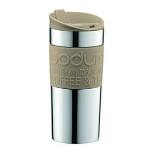 Bodum - Travel mug - Stainless Steel - Sand - 0.35 l, 12 oz - Unboxed