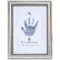 The Grandparent Gift Frame Wall Decor, Handprint 1st Christmas by The Grandparent Gift Co.