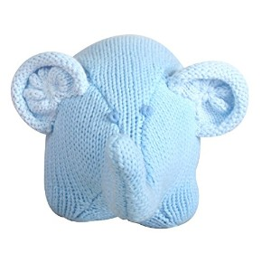 Zubels 100 % hand-knit Edwin The Elephant Rattleおもちゃすべて天然繊維