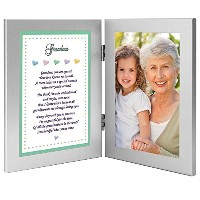 Gift for Grandma From Grandchild - Sweet Poem in Double Frame From Baby, Infant, Child - Add Photo...
