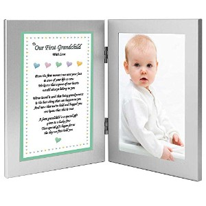 To Our First Grandchild With Love - Sweet Poem from Grandparents in Double Frame - Add Photo by...