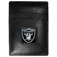 NFL Los Angeles Ramsレザーマネークリップ/ Cardholder Packaged inギフトボックス、ブラック、スリム