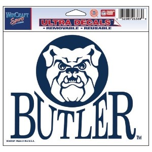 Butler Bulldogs公式NCAA 4.5インチx 6インチCar Window Clingデカールby WinCraft