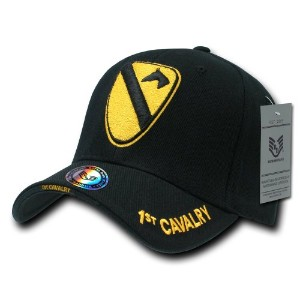 Rapid Dominance S001-1CAV The Legend Military Caps, 1 St Cavalry, Black